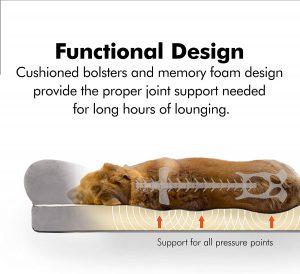 Orthopedic dog bed size 36